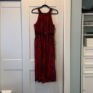 Tommy Hilfiger red and black halter dress